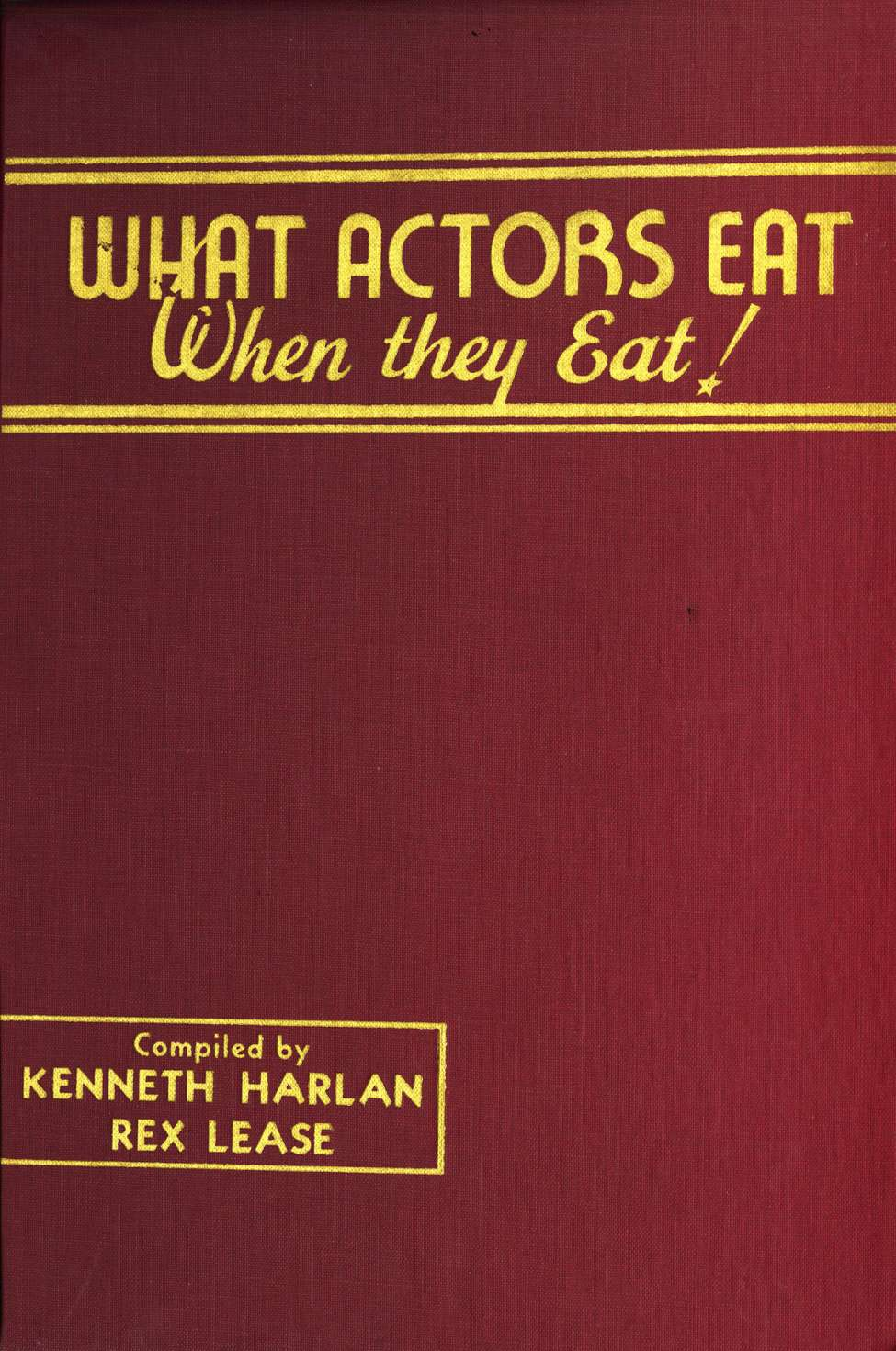 Comic Book Cover For What Actors Eat - When they Eat!