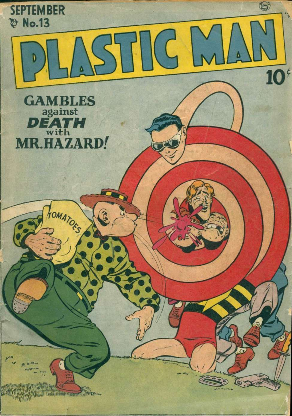 Comic Book Cover For Plastic Man #13