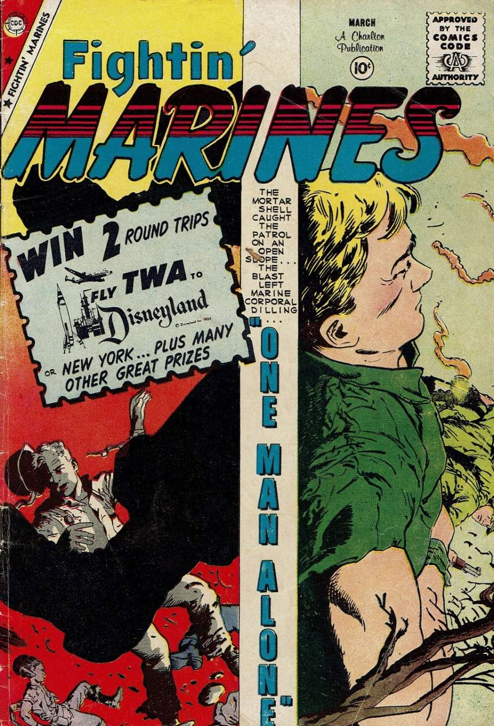 Comic Book Cover For Fightin' Marines #34