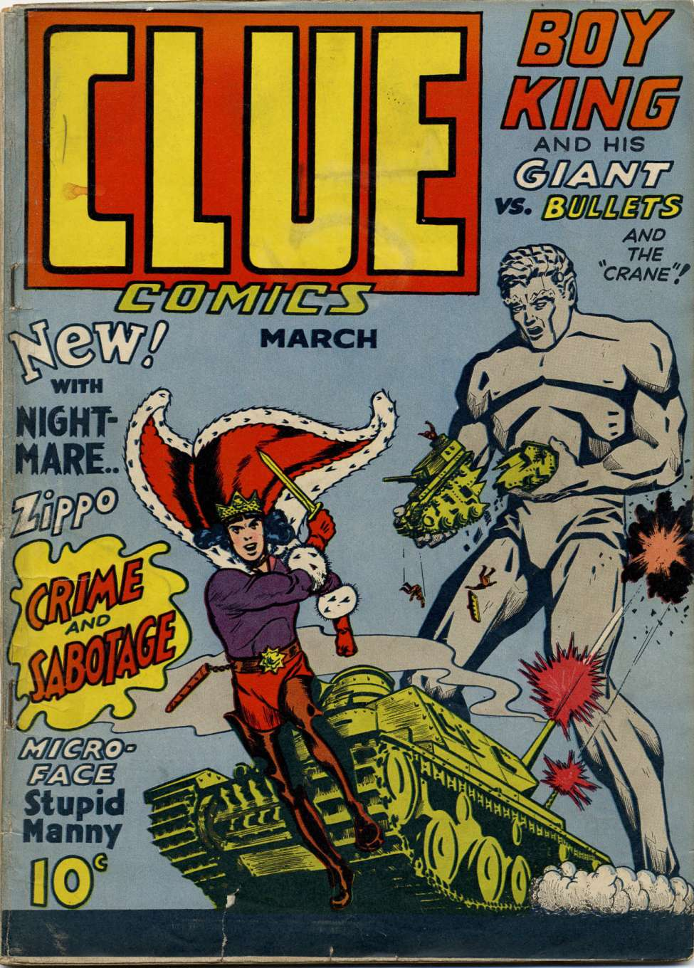 Comic Book Cover For Clue Comics v1 3 [3] - Version 2