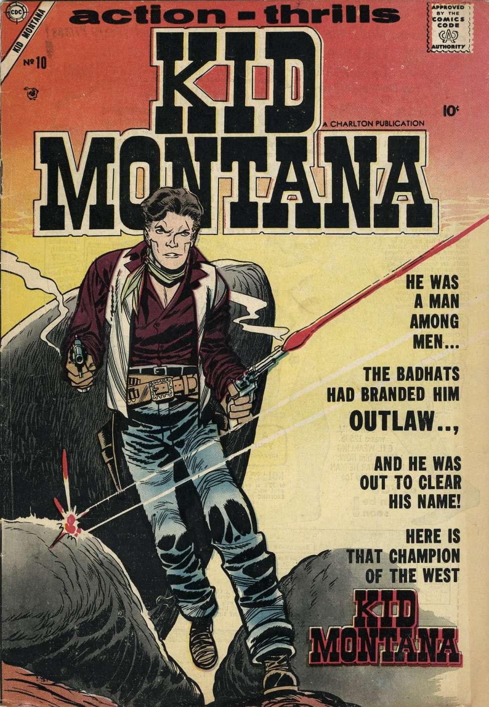Comic Book Cover For Kid Montana #10
