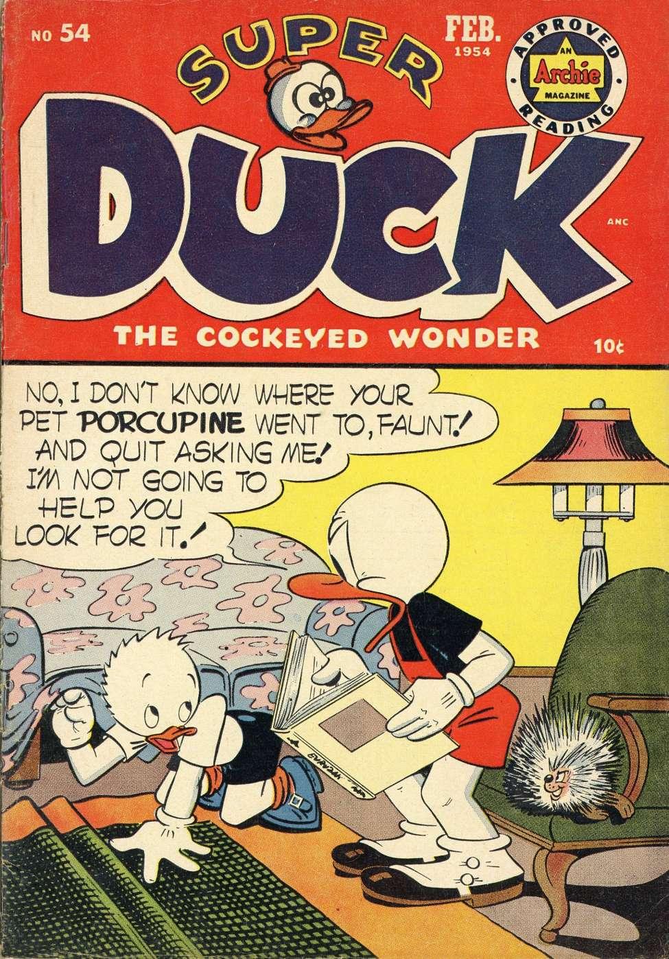 Comic Book Cover For Super Duck Comics #54