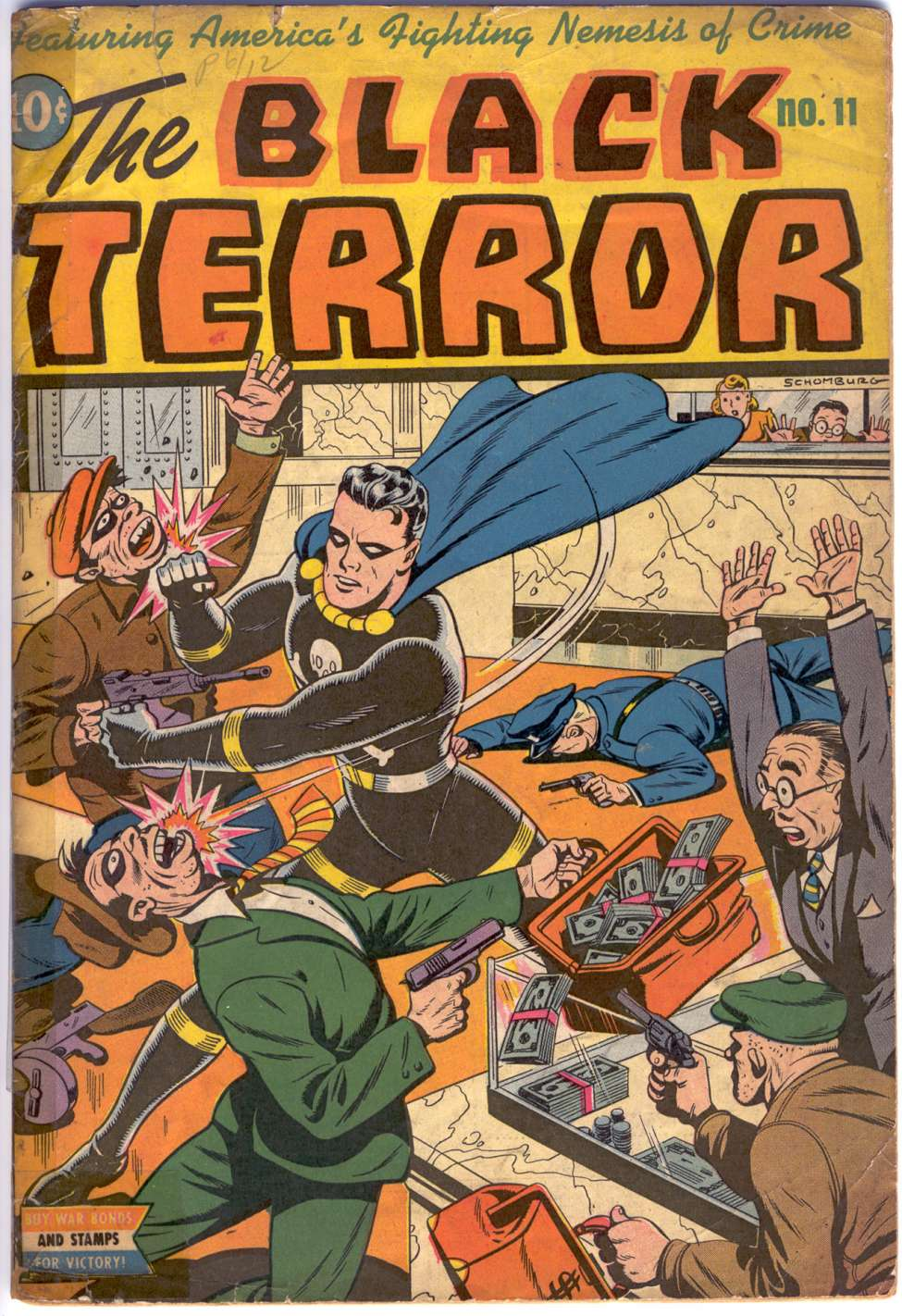 Comic Book Cover For The Black Terror #11