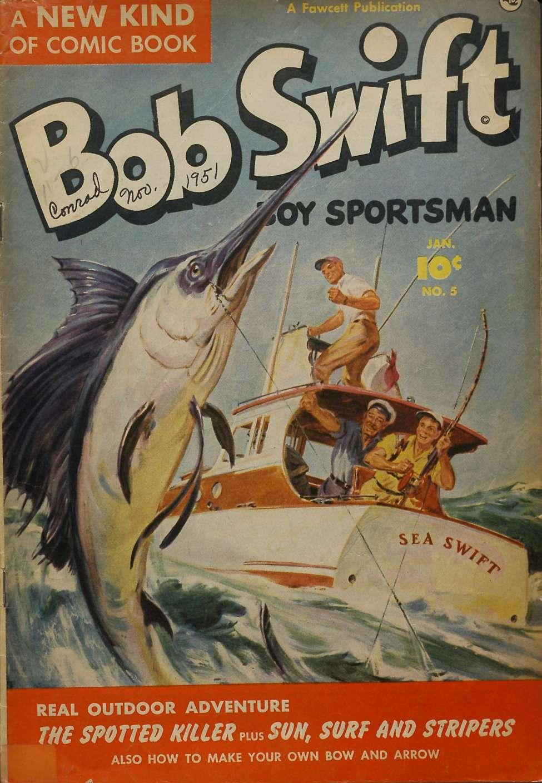 Comic Book Cover For Bob Swift, Boy Sportsman #5