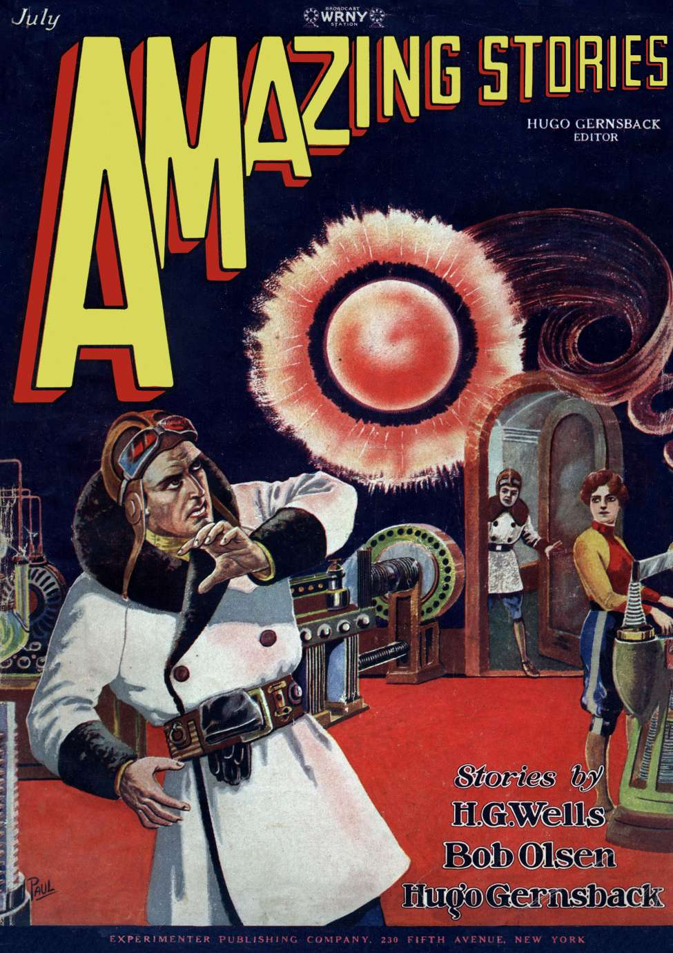Comic Book Cover For Amazing Stories v03 04 - Vandals From the Moon - Marius