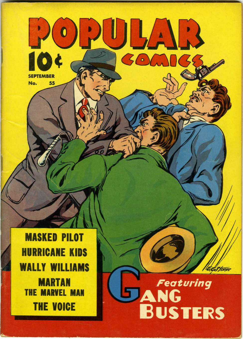 Comic Book Cover For Popular Comics #55