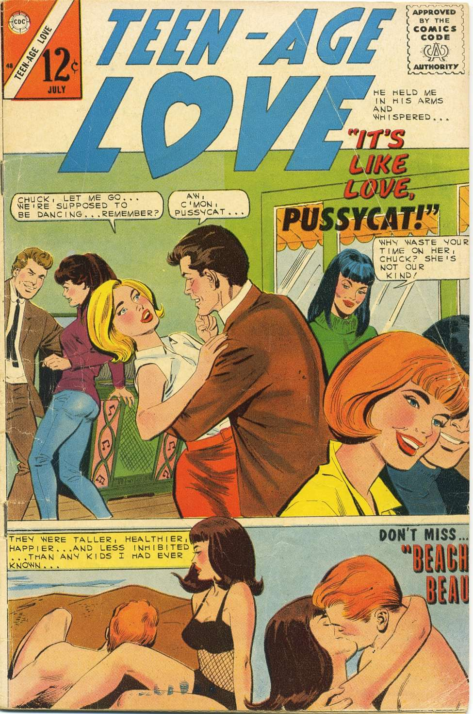 Comic Book Cover For Teen-Age Love #48
