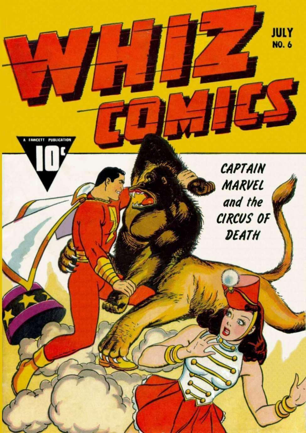 Comic Book Cover For Capt. Marvel Whiz Archives Vol 02