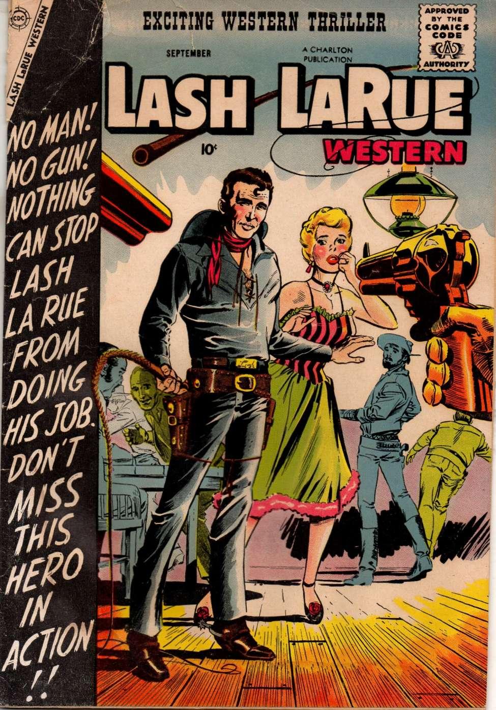 Comic Book Cover For Lash Larue Western #69
