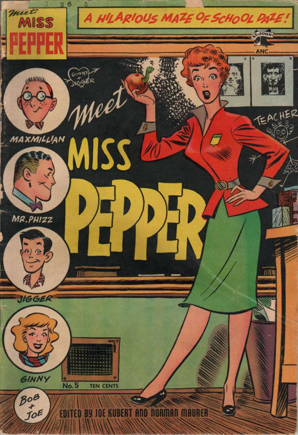 Comic Book Cover For Meet Miss Pepper #5
