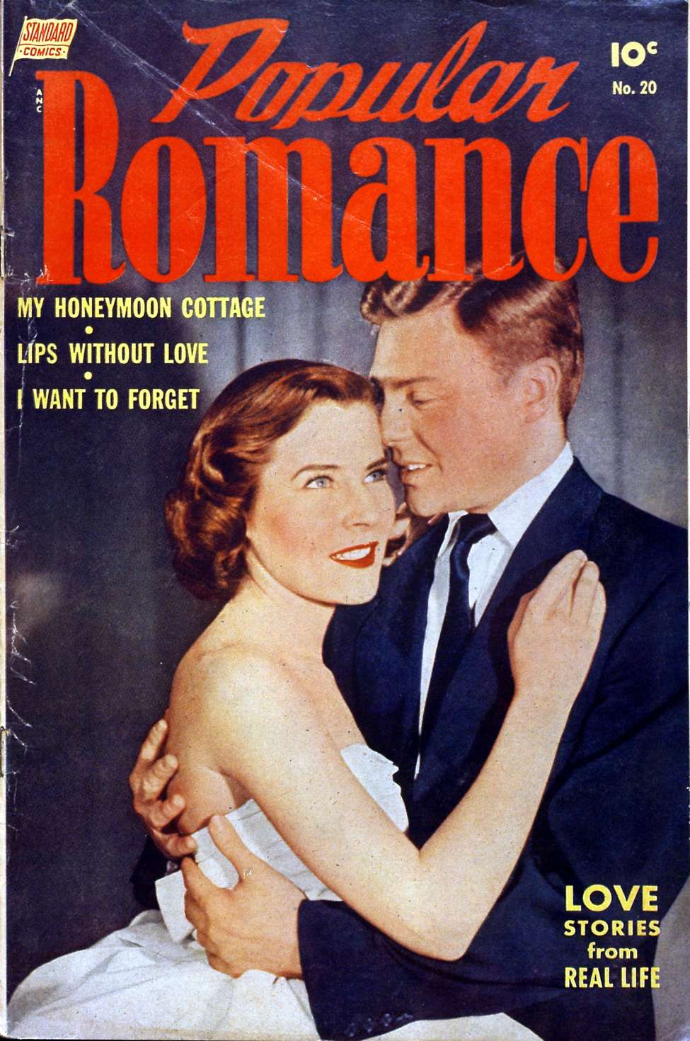 Comic Book Cover For Popular Romance #20
