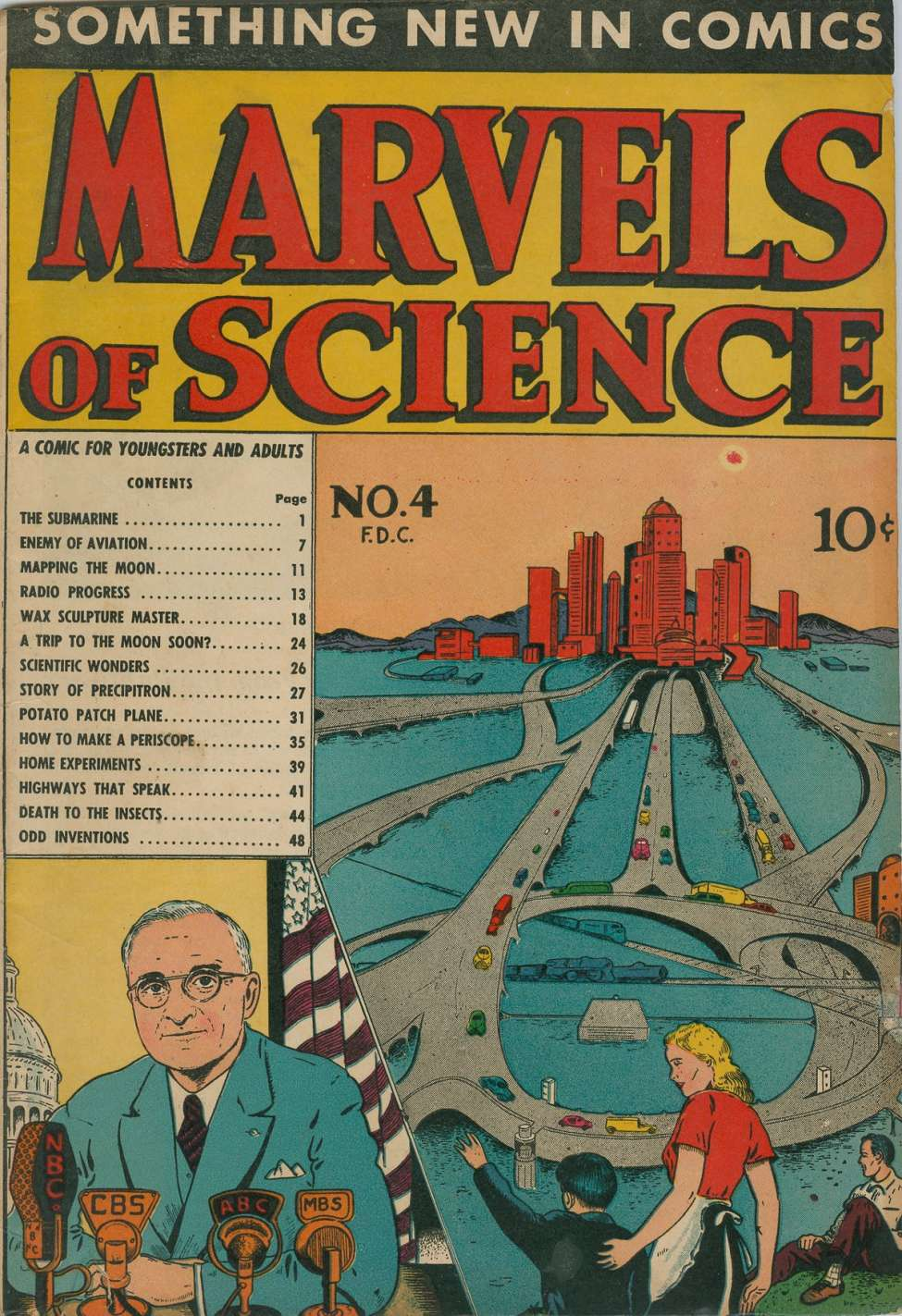 Comic Book Cover For Marvels of Science #4