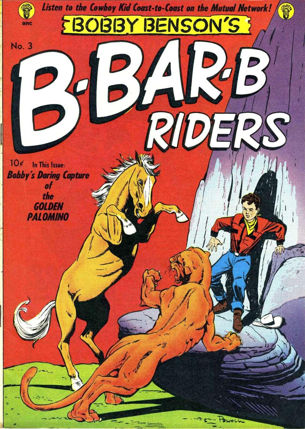 Comic Book Cover For Bobby Benson's B-Bar-B Riders #3