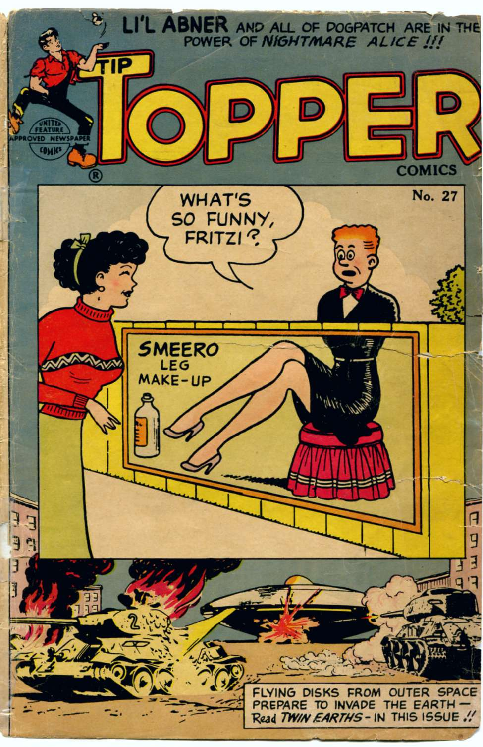 Comic Book Cover For Tip Topper Comics 27