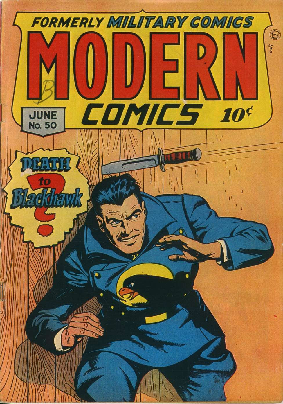Comic Book Cover For Modern Comics #50