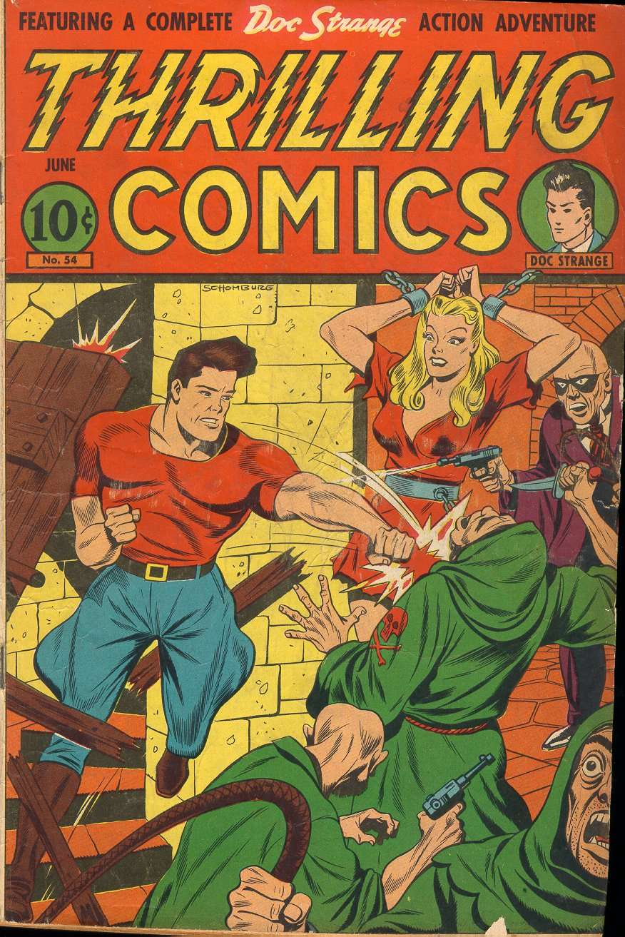 Comic Book Cover For Thrilling Comics #54