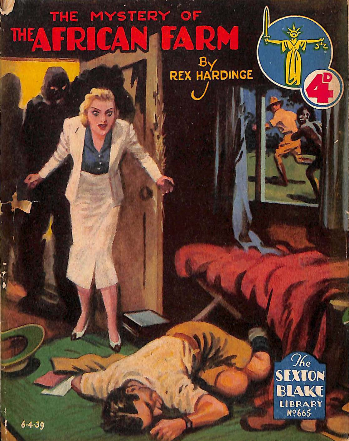 Comic Book Cover For Sexton Blake Library S2 665 - The Mystery of the African Farm