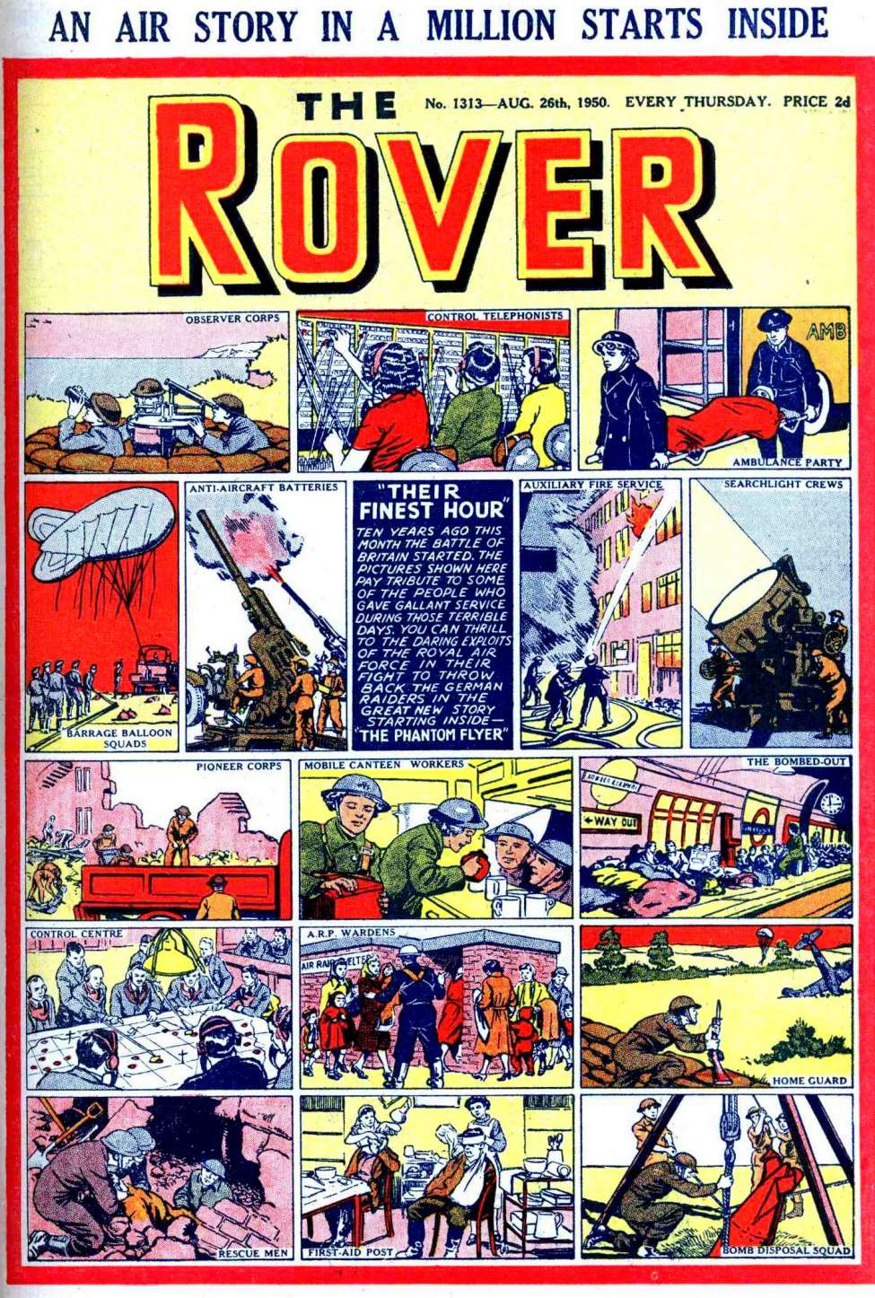 Comic Book Cover For The Rover 1313
