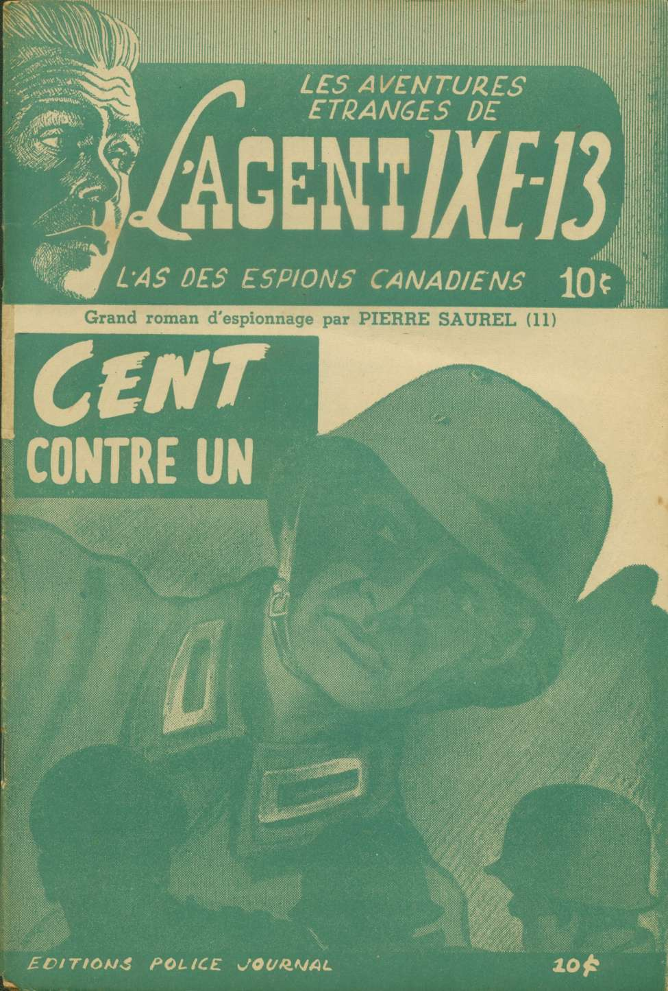 Comic Book Cover For L'Agent IXE-13 v2 011 - Cent contre un