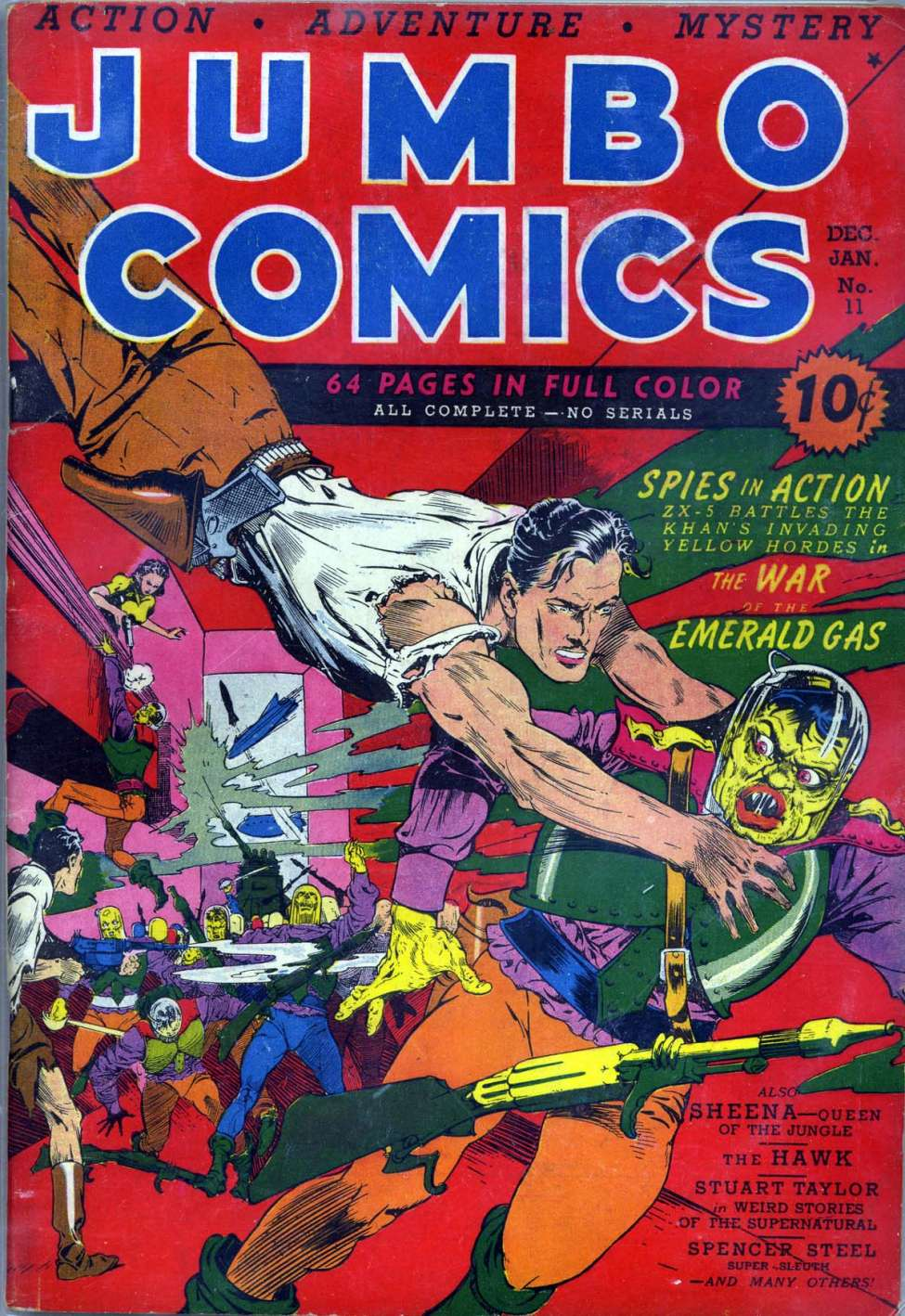 Comic Book Cover For Jumbo Comics #11