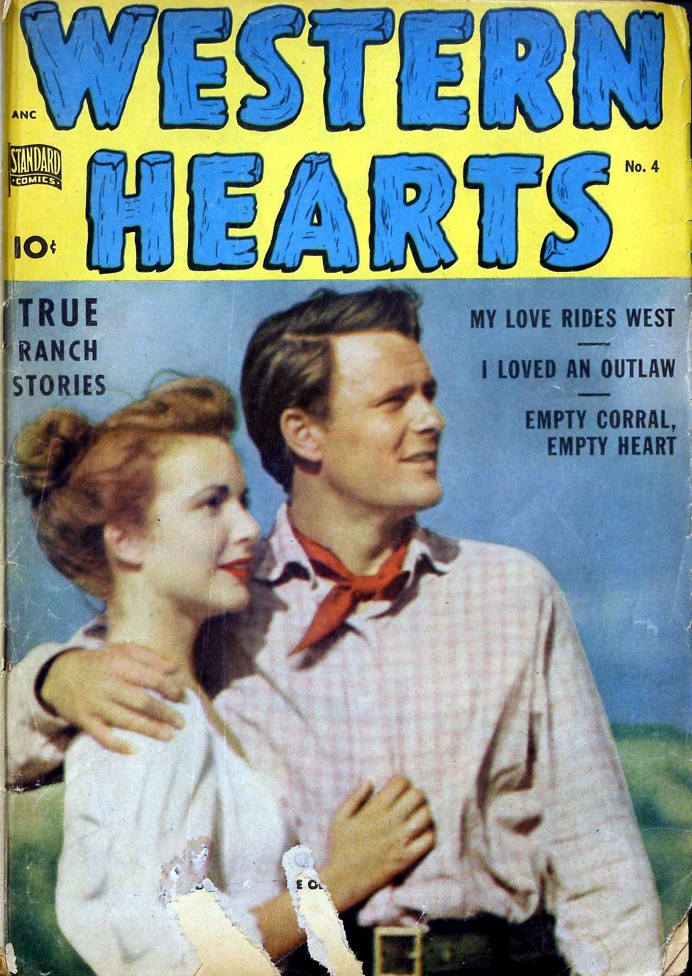 Comic Book Cover For Western Hearts #4