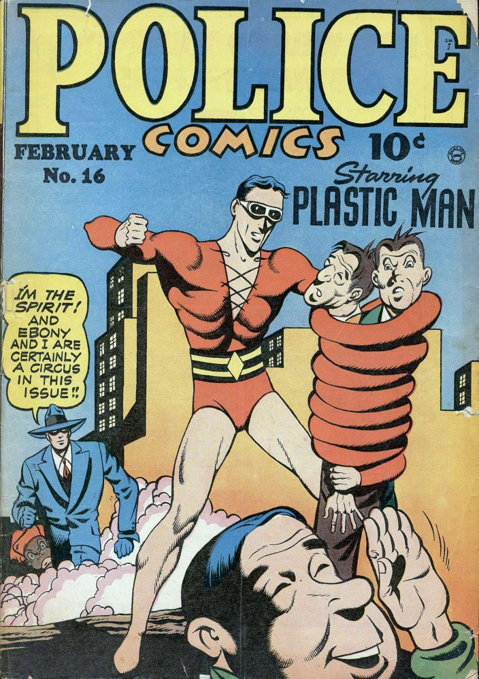 Comic Book Cover For Police Comics #16