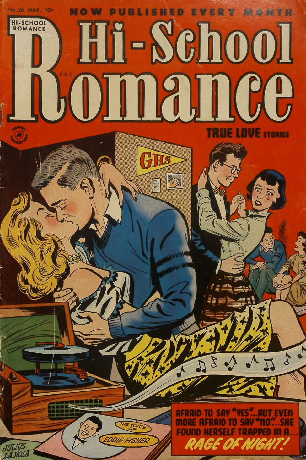 Comic Book Cover For Hi-School Romance #26
