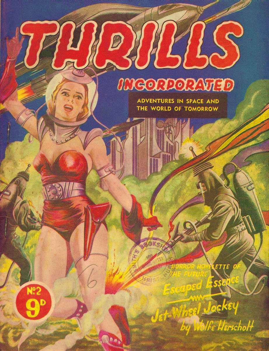 Comic Book Cover For Thrills Incorporated 02 - Jet-Wheel Jockey - Wolfe Herscholt