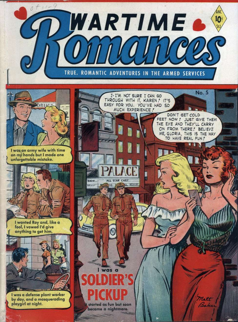 Comic Book Cover For Wartime Romances #5