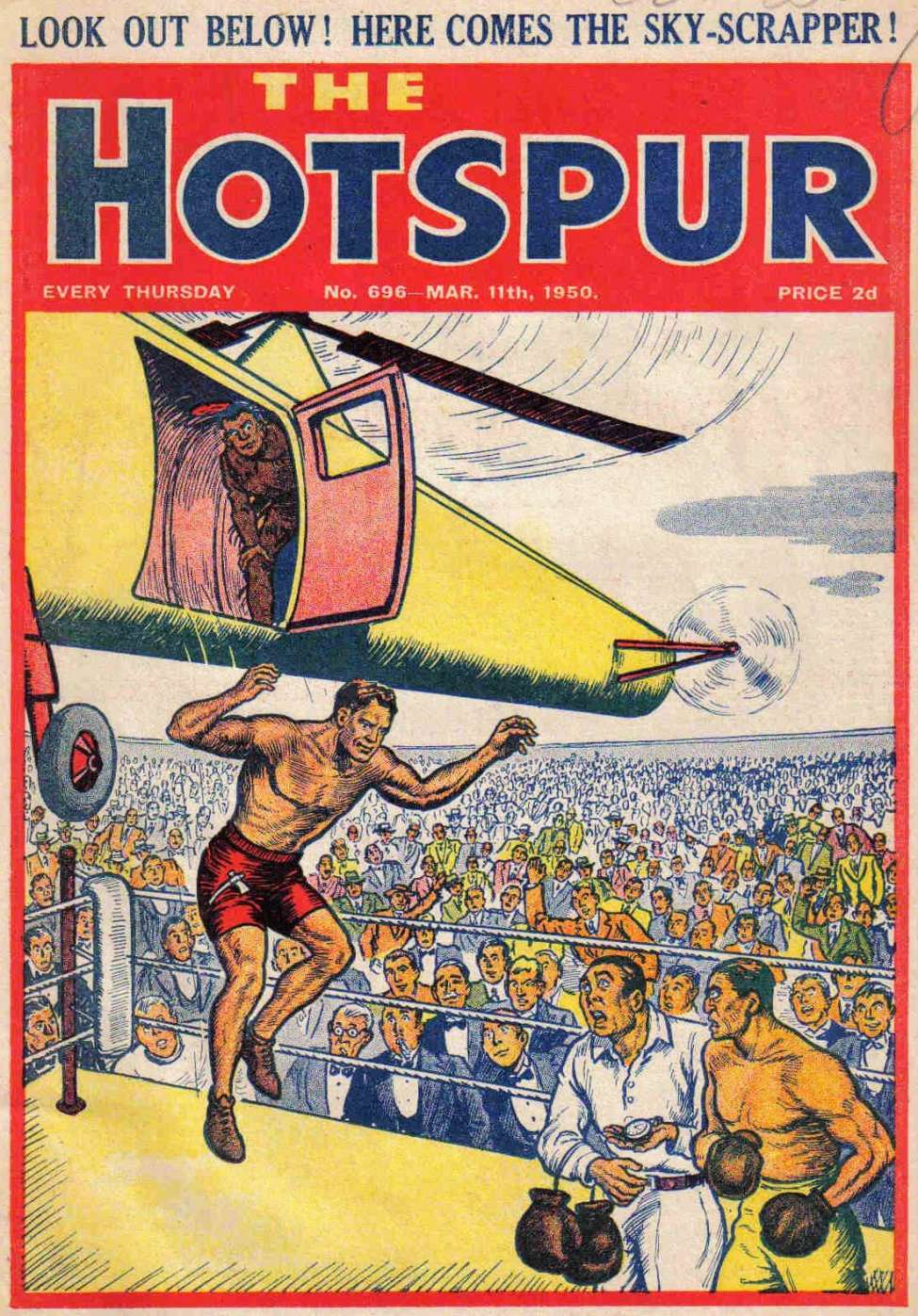 Comic Book Cover For The Hotspur 0696