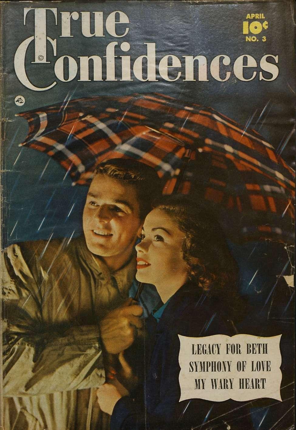 Comic Book Cover For True Confidences #3