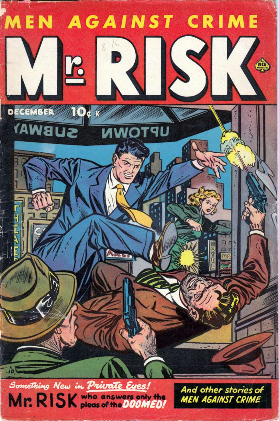 Comic Book Cover For Mr. Risk #2