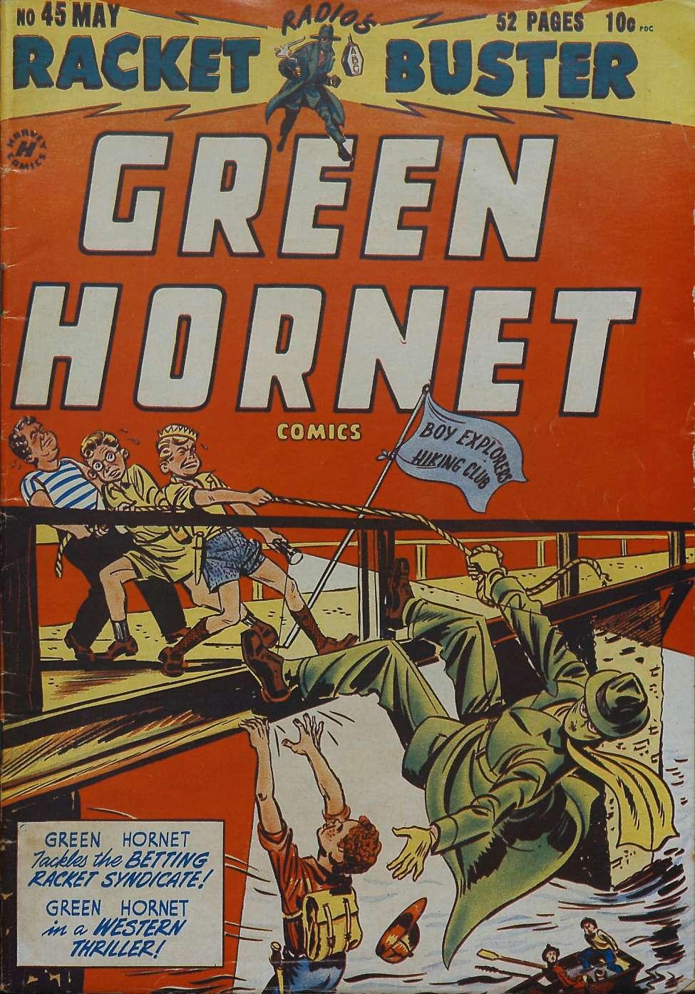 Comic Book Cover For Green Hornet, Racket Buster #45