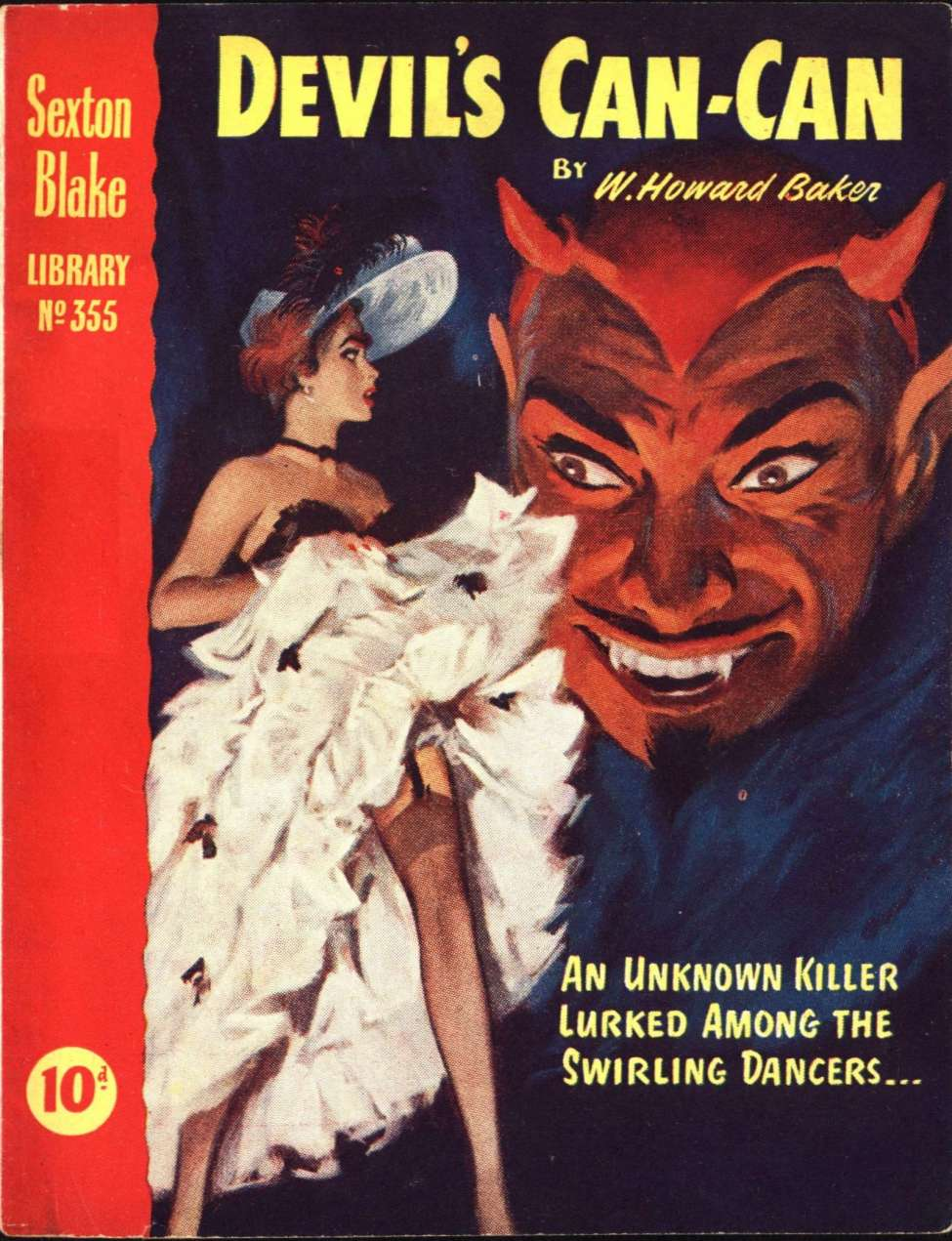 Comic Book Cover For Sexton Blake Library S3 355 - Devil's Can-Can