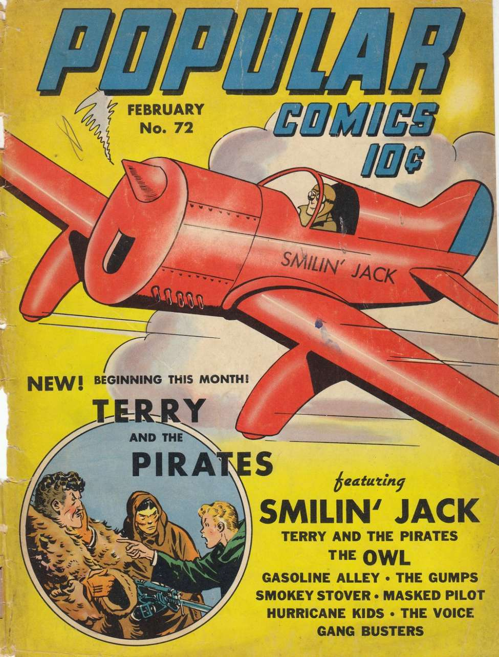 Comic Book Cover For Popular Comics #72