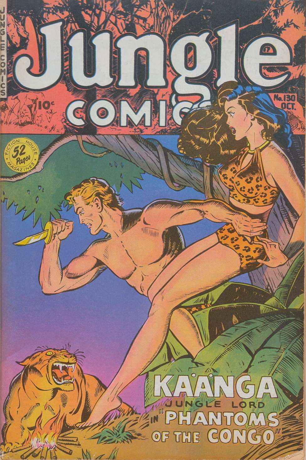 Comic Book Cover For Jungle Comics #130 - Version 2