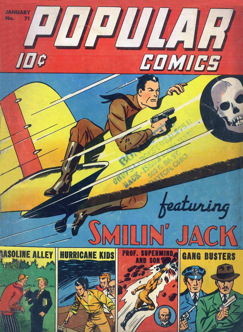 Comic Book Cover For Popular Comics #71