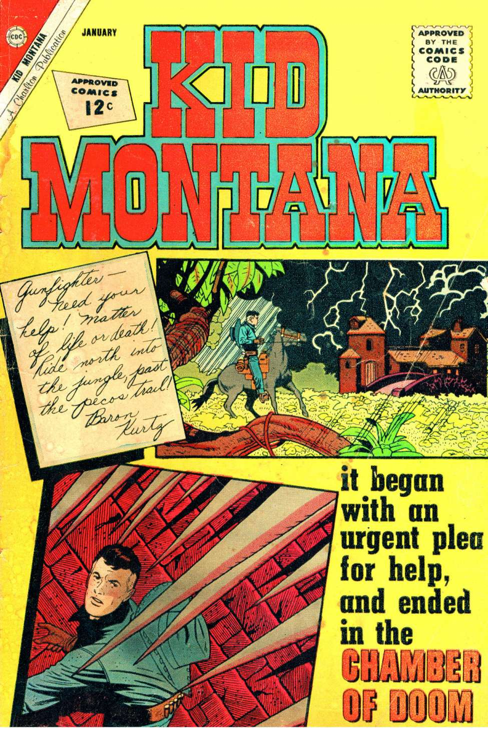 Comic Book Cover For Kid Montana #38