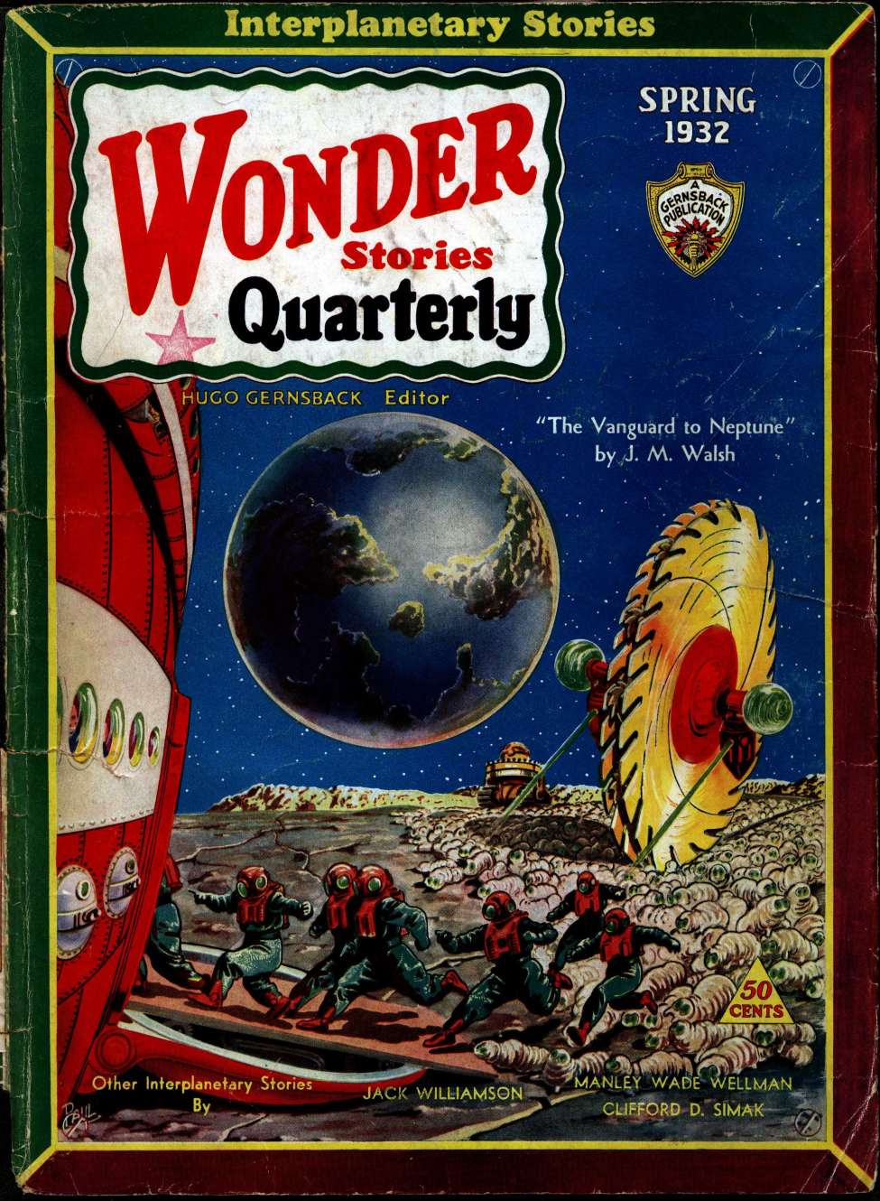 "Image result for he Vanguard to Neptune"" (Spring 1932 Wonder Stories Quarterly"