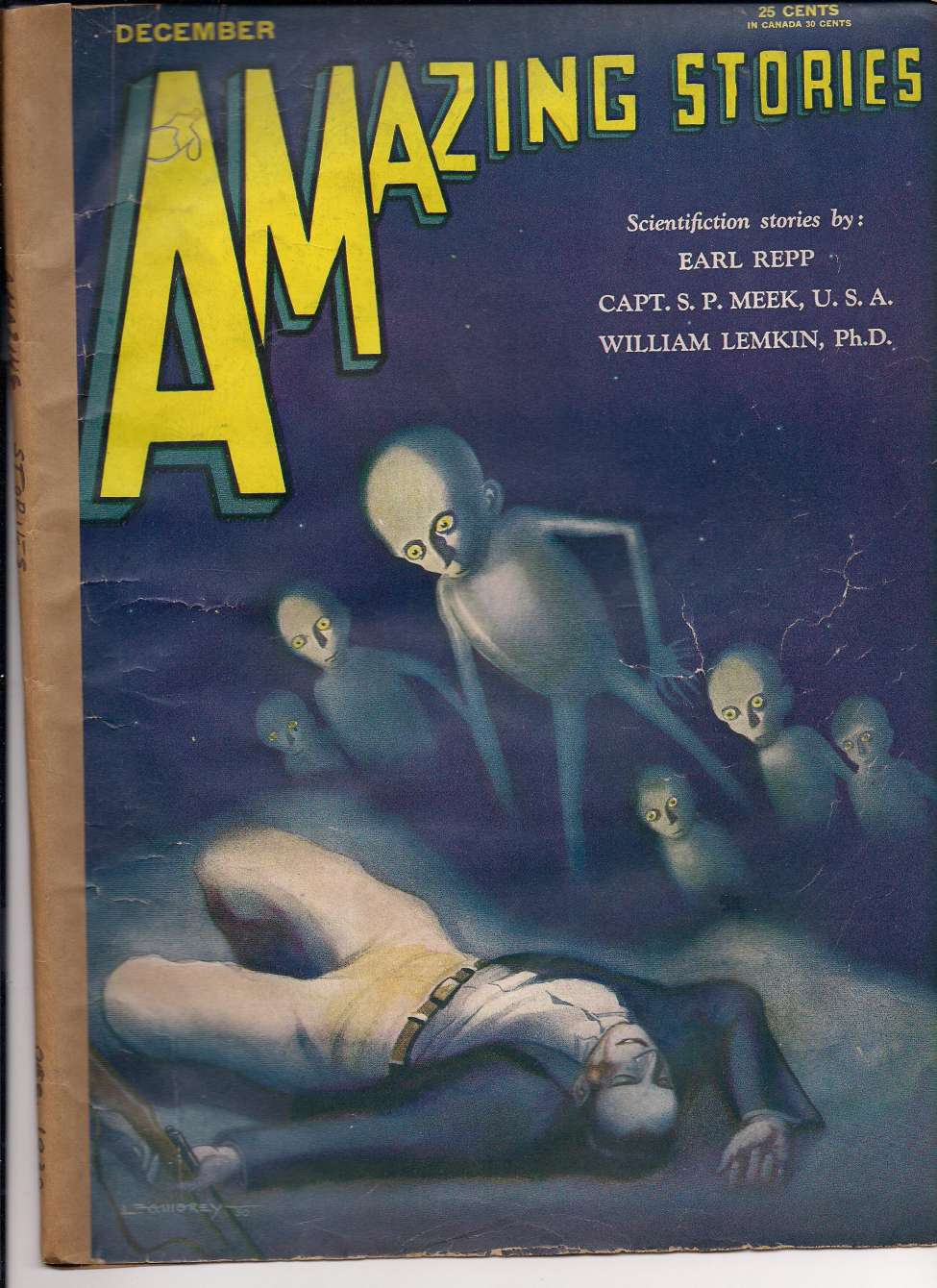 Comic Book Cover For Amazing Stories v05 09 - The Eclipse Special - William Lemkin, Ph.D