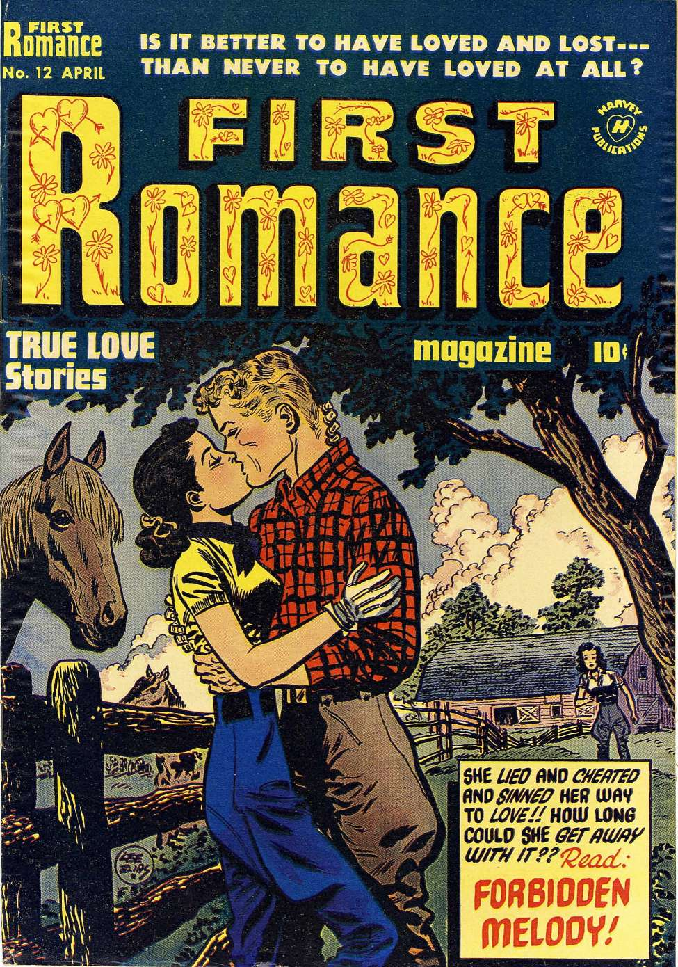Comic Book Cover For First Romance Magazine #12