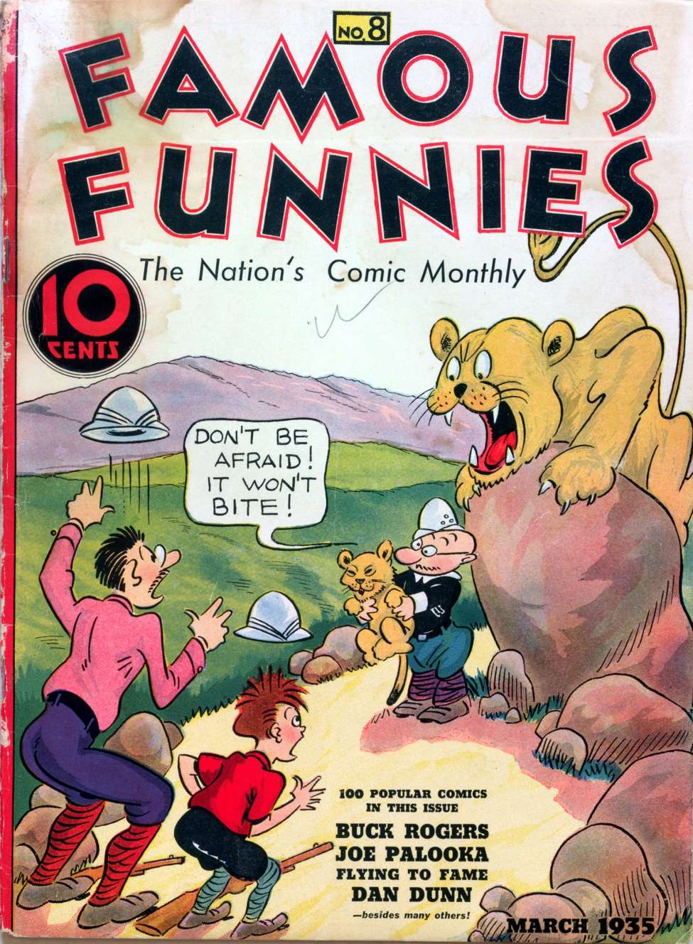 Comic Book Cover For Famous Funnies #8