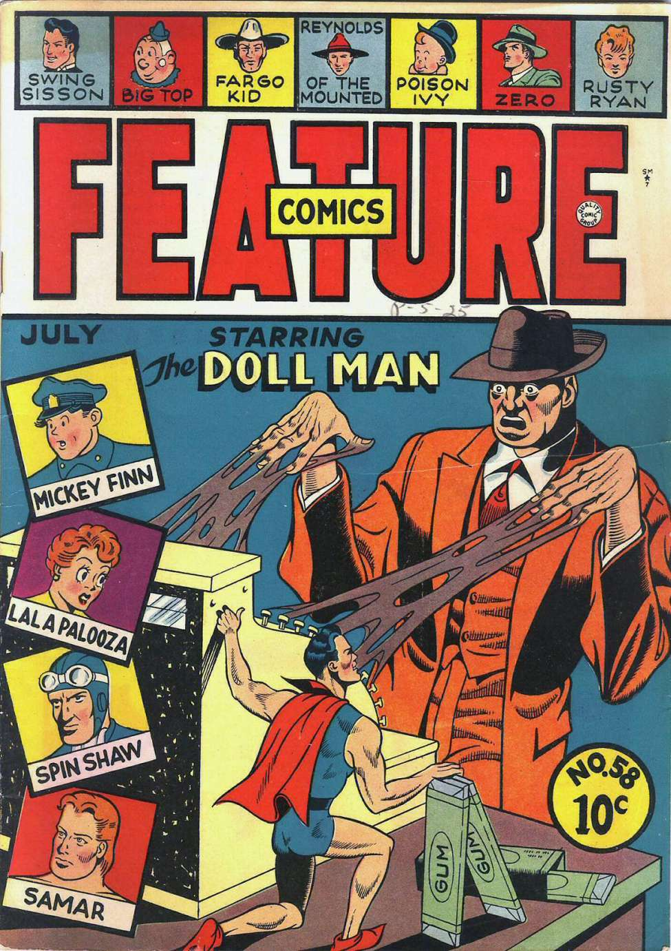 Comic Book Cover For Feature Comics #58