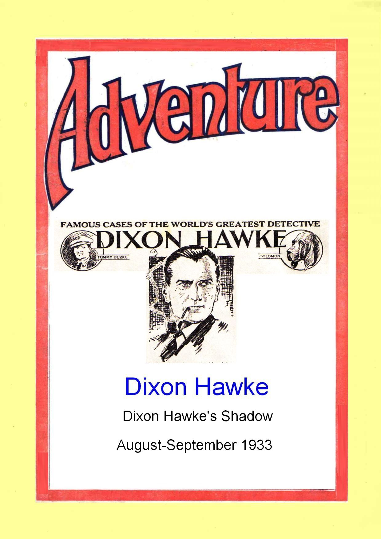 Comic Book Cover For Dixon Hawke's Shadow
