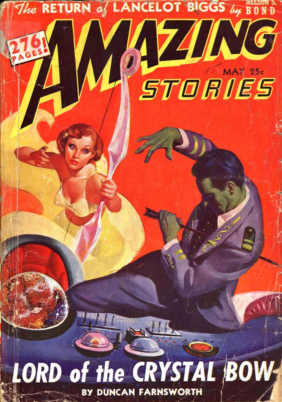 Comic Book Cover For Amazing Stories v16 05 - Lord of the Crystal Bow - Duncan Farnsworth