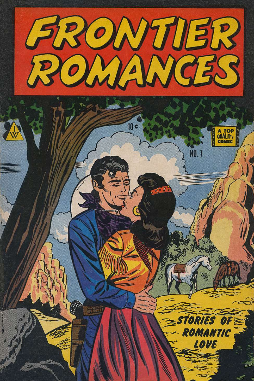 Comic Book Cover For Frontier Romances #1