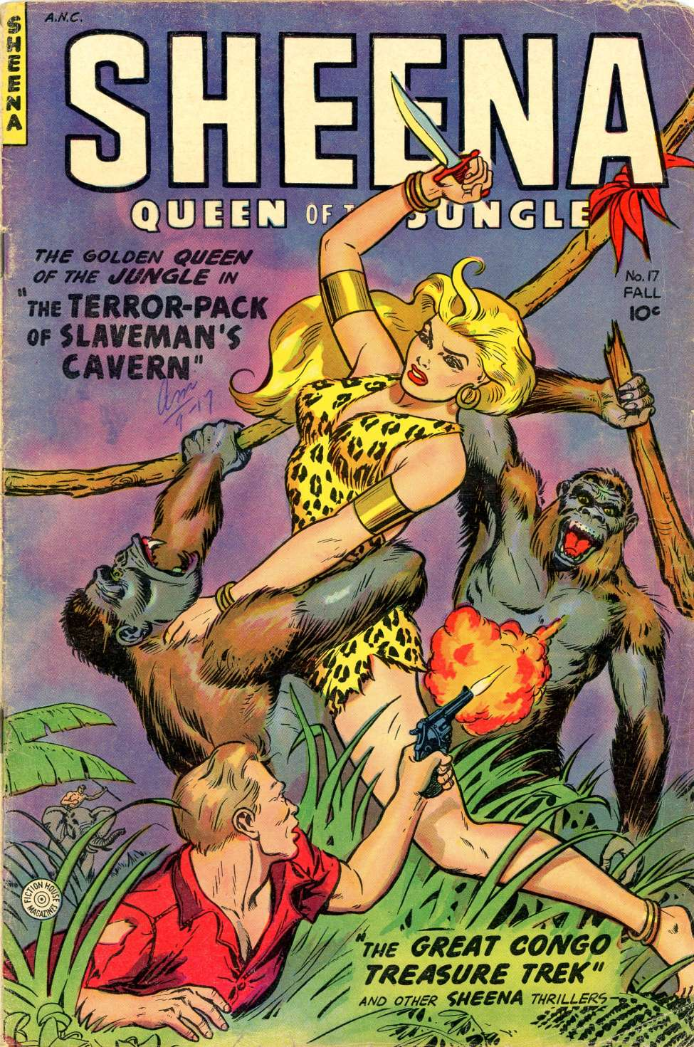 Comic Book Cover For Sheena, Queen of the Jungle #17