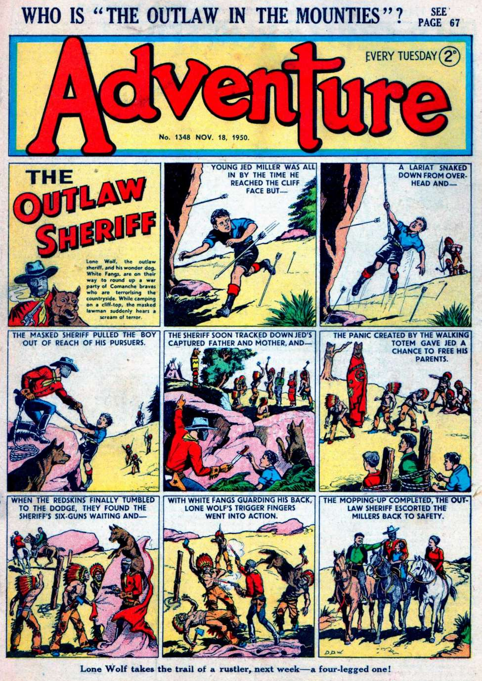 Comic Book Cover For Adventure #1348