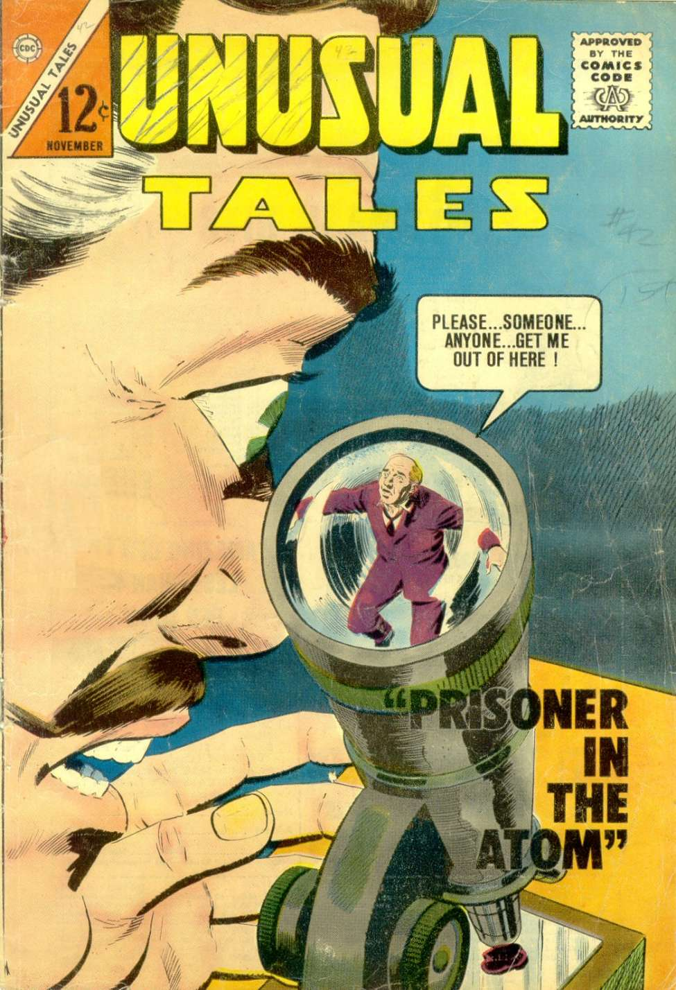 Comic Book Cover For Unusual Tales #42