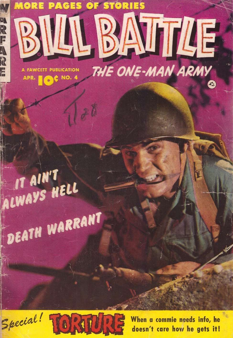 Comic Book Cover For Bill Battle, the One Man Army #4
